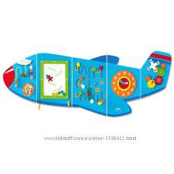 Игровой развивающий центр Самолет, бизиборд bizybord