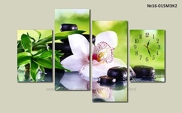 Модульная картина охидея, цветы по номерам