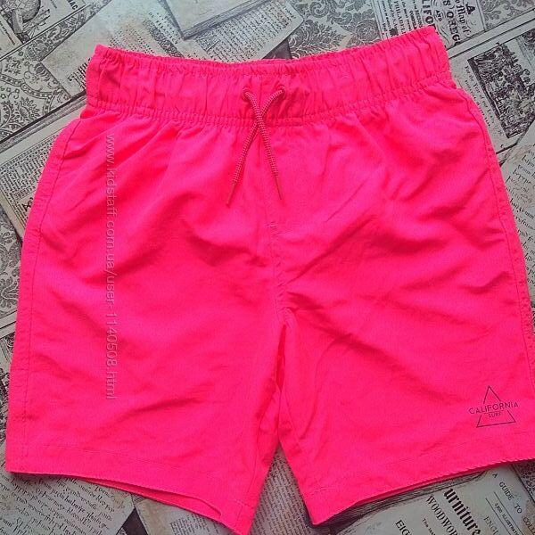 Шорты пляжные 11-16 лет Primark Розовые ядовитые