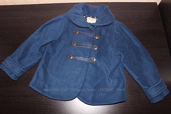 Курточка пальтишко next 3-4 года синяя, желтая