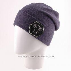 шапка двойная с отворотом, цвета разные