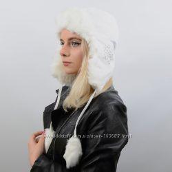 теплая шапка-ушанка, цвета разные