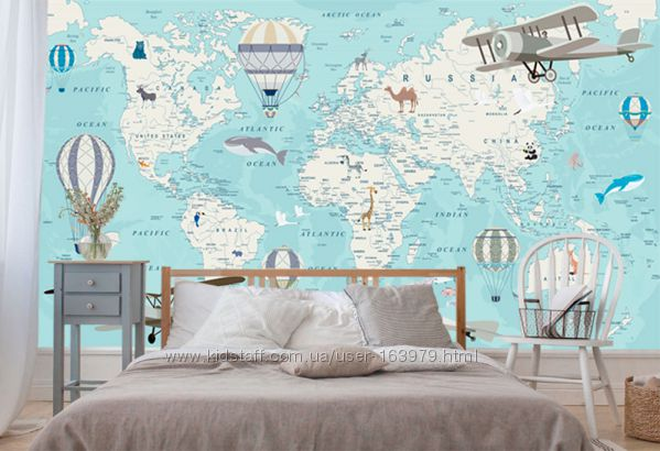 Карта мира, мапа світу під замовлення, друк