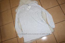 Zara knit cтильный асимметричный джемперкофточкареглан с разрезами по бок