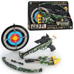 Арбалет с лазерным прицелом Limo Toy 0488 стрелы на присосках, мишень