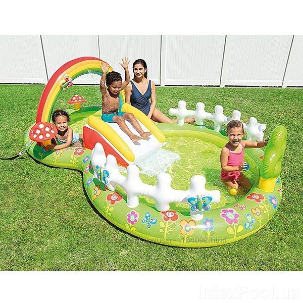 Надувний ігровий центр Intex 57154 Мій сад 290 х 180 х 104 см, з надувними