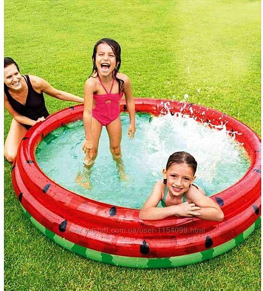 Дитячий надувний басейн Intex 58448 Кавун, 168 х 38 см