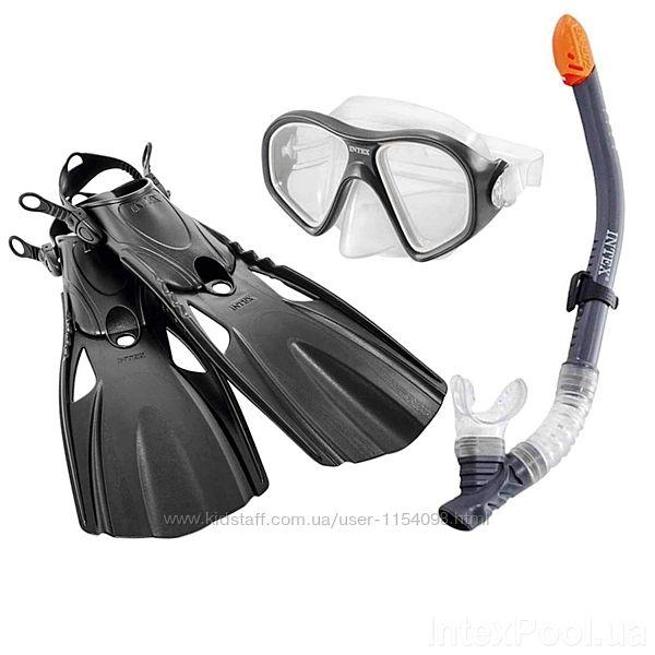 Набір 3 в 1 для плавання Intex 55657 маска XXL, 14, обхват голови  59 с