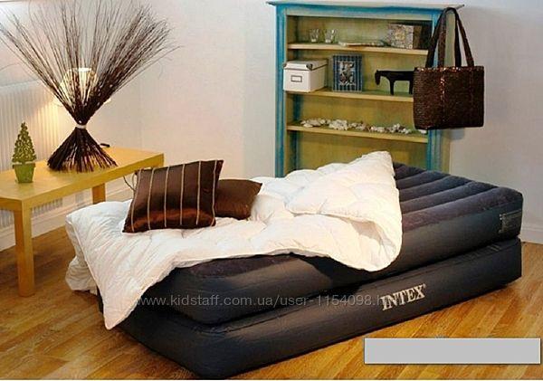 Надувна ліжко Intex 64122, 99 х 191 х 42 см, вбудований електронасос. однос