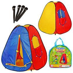 Палатка детская пирамида 0053 83х83х108 см, вход на липучке