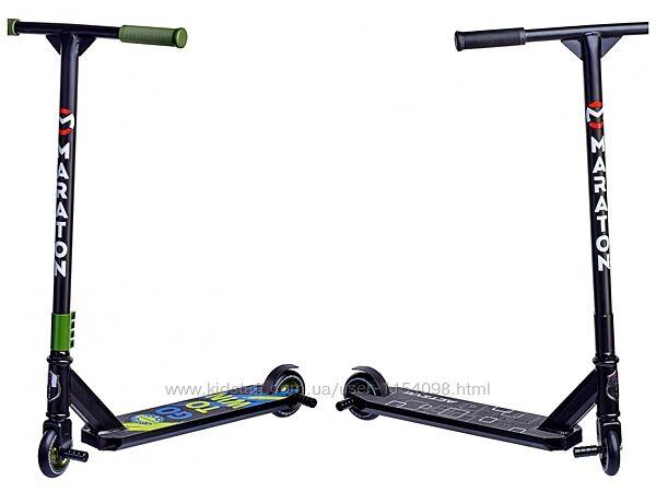Трюковый Самокат Maraton Active, Два цвета, колеса 100 мм