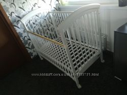 Кровать кроватка Trama белая детская Трама деревянная