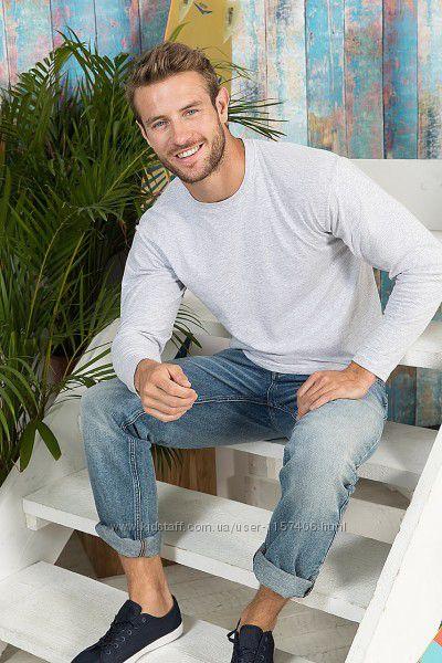 Мужская футболка с длинным рукавом, плотность 145 гм2