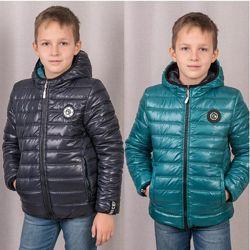 Демисезонная двусторонняя куртка для мальчика ДЖЕК 98-164р.