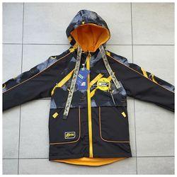 Двусторонняя демисезонная куртка для мальчика 110-134 р