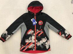 Двухсторонняя куртка демисезонная для мальчика 116-140 р.