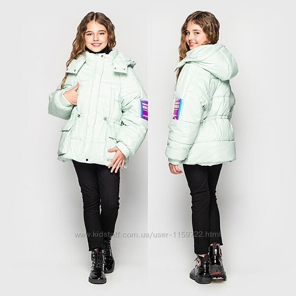Модная зимняя куртка парка для девочки от Cvetcov Айша 128-164 р.