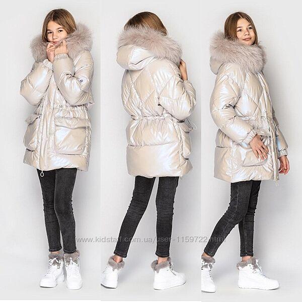 Шикарная  куртка парка для девочки от Cvetcov Ясмин 128-164 р.