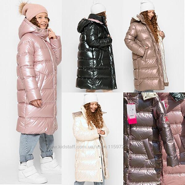 Новинка 2022 Зимнее пальто пуховик для девочек X-Woyz DT-8330 110-164 р.