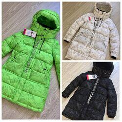 Новинка 2022 Зимняя куртка-пальто для девочек Kiko 6150 122-146 размер
