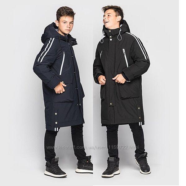 Зимняя куртка пальто для мальчика илон от cvetkov 128-164р.