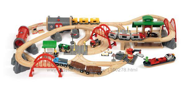 Brio 33052 деревянная железная дорога люксовый набор