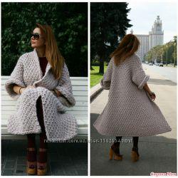 вязаное пальто из толстой пряжи 1500 грн женское пальто купить