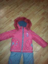 Детский зимний комбинезон на девочку 80-90 см kiko