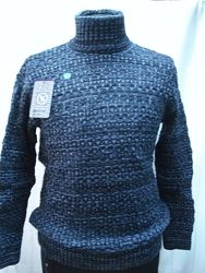 Свитер-хомут Vip Stendo мужской  синий , узор шахматка  3XL,4XL-54,5XL