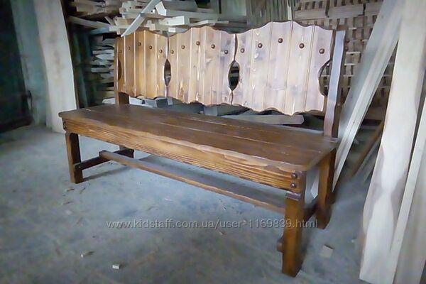 Скамейка - кресло из натурального дерева, Скамейка Кресло  Атлант