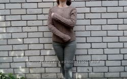 Уникальный пуловер ручной работы