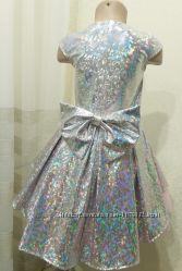 Шикарное платье Галлограмма ассиметрия фатин от производителя 104-152
