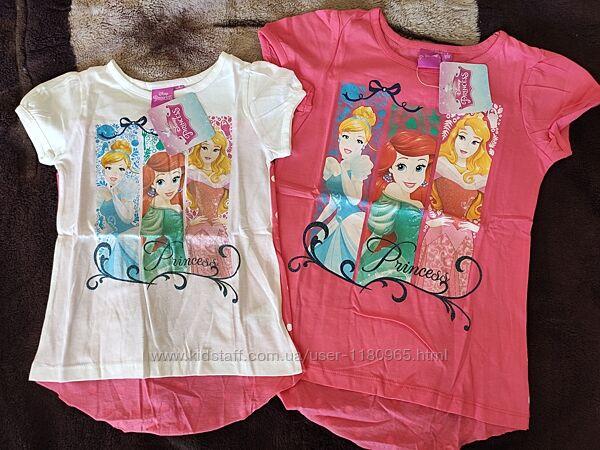 Детская футболка Принцессы Дисней Ариель Бель Аврора Эльза Скай