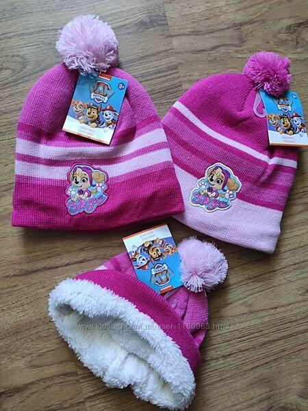 Детская шапка теплая Щенячий патруль Скай Эверест Холодное сердце Эльза Мин