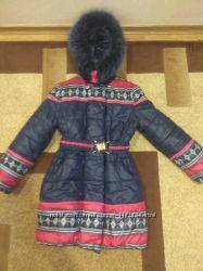 зимнее пальто на девочку 7 - 10 лет