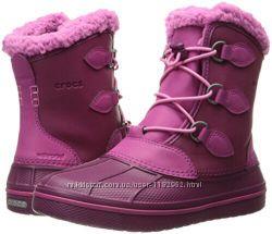 Зимние детские  сапоги Crocs