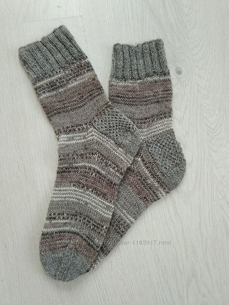 Носки мужские вязаные, пряжа drops