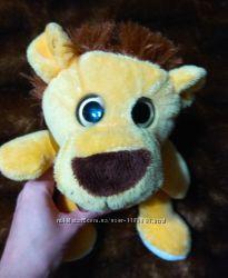 Мягкая интерактивная игрушка повторюшка говорушка Львенок лев