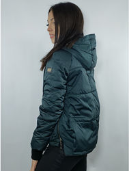 Стеганая женская демисезонная асимметричная куртка р. 44-48