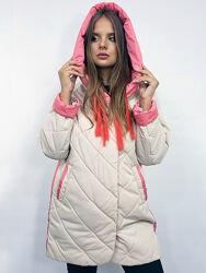 Куртка стёганая женская демисезон большие размеры 50-60