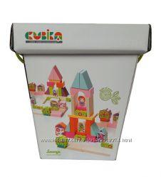 Деревянный конструктор Городок для девочек, Cubika, 13906