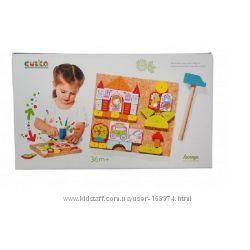 Развивающая игра с молоточком Аппликация для девочек, Cubika, 13890