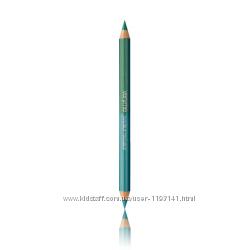 Двусторонний карандаш для глаз Двойная игра зелёный тон