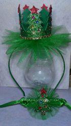 Обруч-корона с ёлочкой