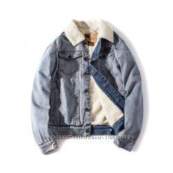 Куртка мужская джинсовая на меху Allsaints Warrior еврозима