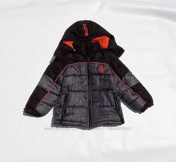 U. S. Polo assn. Зимняя куртка с капюшоном на 3 года.