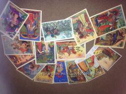 Антикварные открытки. Набор иллюстраций к сказкам