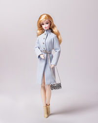 Пальто весняне ніжно-блакитне для лялечок Барбі