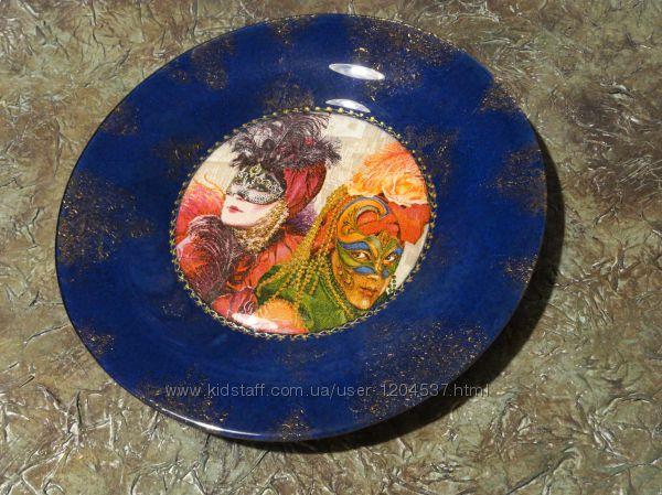 Венецианский карнавал, декоративная тарелочка