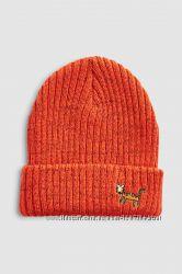 Демисезонная оранжевая деми шапка Некст Next
